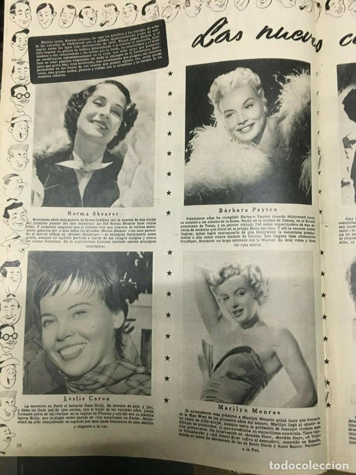 Cine: REVISTA CINE MUNDO Paquita Rico on Cover 1952 Joan Fontaine Deborah Marilyn Monroe L.Caron - Foto 4 - 244870080