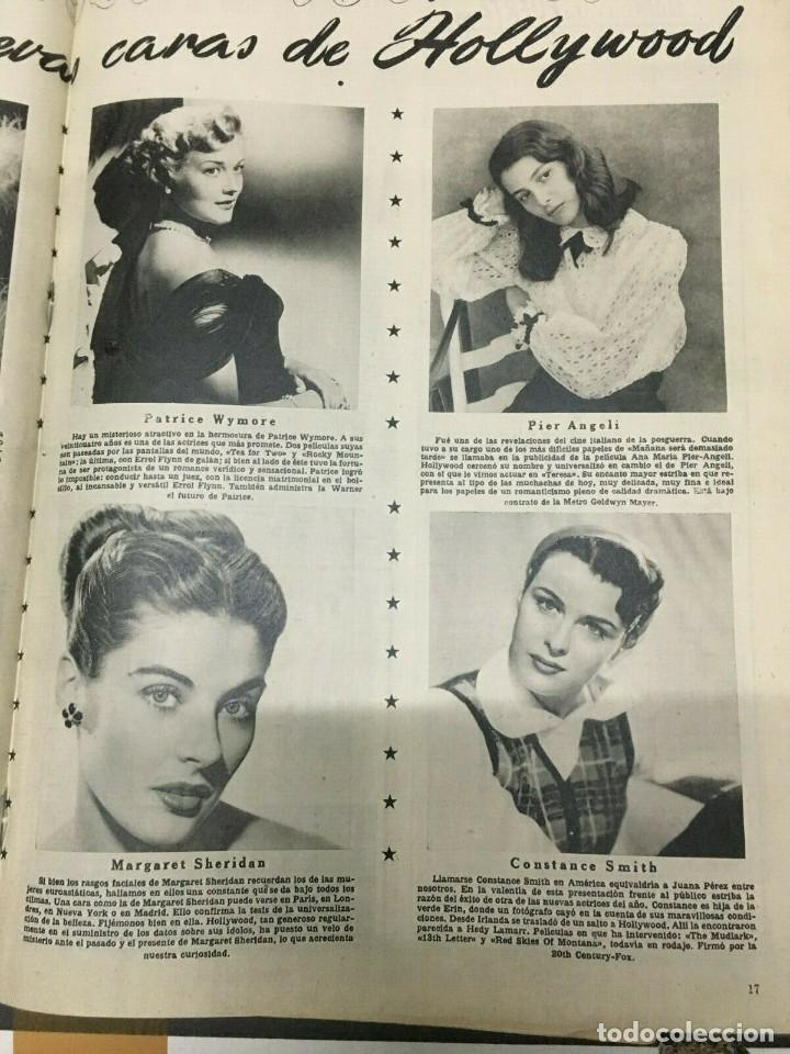 Cine: REVISTA CINE MUNDO Paquita Rico on Cover 1952 Joan Fontaine Deborah Marilyn Monroe L.Caron - Foto 5 - 244870080