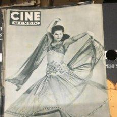 Cine: REVISTA CINE MUNDO YVONNE DE CARLO 1952 RITA HAYWORTH LOLA FLORES CAROLE LANDIS JANET LEIGH BERGMAN. Lote 244870225