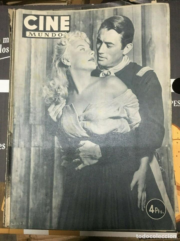 REVISTA CINE MUNDO BARBARA PAYTON GREGORY PECK COVER 1952 VIRGILIO TEIXEIRA RITA HAYWORTH (Cine - Revistas - Otros)