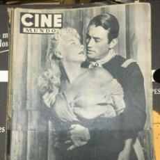 Cine: REVISTA CINE MUNDO BARBARA PAYTON GREGORY PECK COVER 1952 VIRGILIO TEIXEIRA RITA HAYWORTH. Lote 244870375