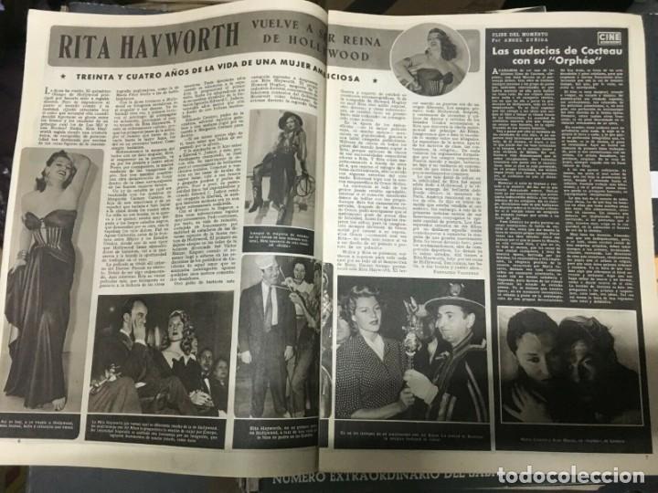 Cine: REVISTA CINE MUNDO Barbara Payton Gregory Peck Cover 1952 Virgilio Teixeira Rita Hayworth - Foto 3 - 244870375