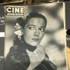 Cine: REVISTA CINE MUNDO KERINA ON COVER 1952 SHELLEY WINTERS DOROTHY LAMOUR AVA GARDNER. Lote 244870490