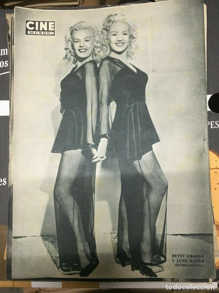 Cine: REVISTA CINE MUNDO Linda Christian on Cover 1952 Betty Grable June Haver Tarzan - Foto 2 - 244870650