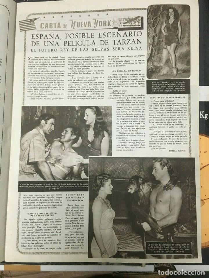 Cine: REVISTA CINE MUNDO Linda Christian on Cover 1952 Betty Grable June Haver Tarzan - Foto 3 - 244870650