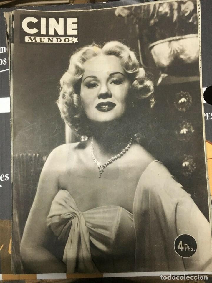 REVISTA CINE MUNDO VIRGINIA MAYO ON COVER 1952 MARIA FELIX ELIZABETH TAYLOR HOLLYWOOD (Cine - Revistas - Otros)