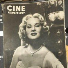 Cine: REVISTA CINE MUNDO VIRGINIA MAYO ON COVER 1952 MARIA FELIX ELIZABETH TAYLOR HOLLYWOOD. Lote 244870770