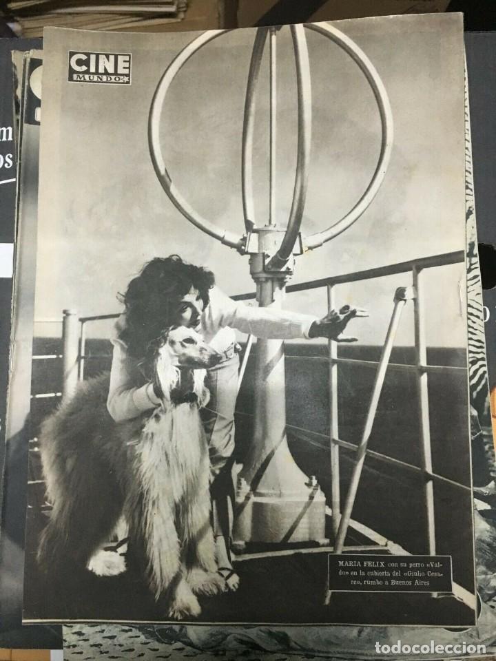Cine: REVISTA CINE MUNDO Virginia Mayo on Cover 1952 Maria Felix Elizabeth Taylor Hollywood - Foto 2 - 244870770