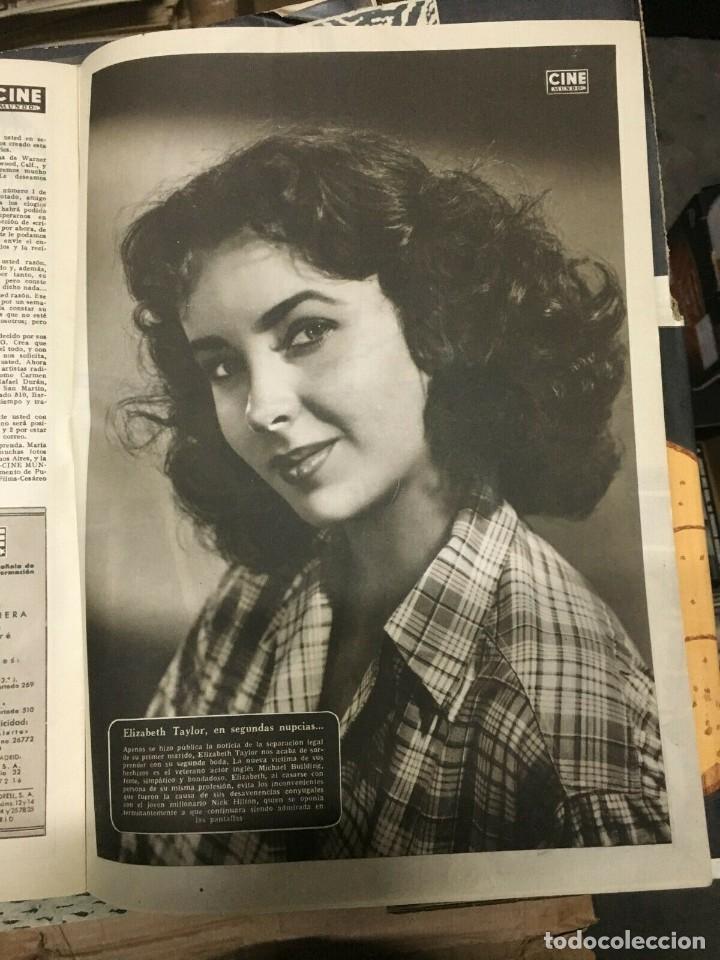 Cine: REVISTA CINE MUNDO Virginia Mayo on Cover 1952 Maria Felix Elizabeth Taylor Hollywood - Foto 4 - 244870770