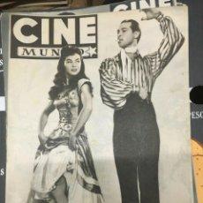 Cine: REVISTA CINE MUNDO SUSAN HAYWARD GREGORY PECK ON COVER 1952 ROBERT TAYLOR VIVIEN LEIGH. Lote 244870940