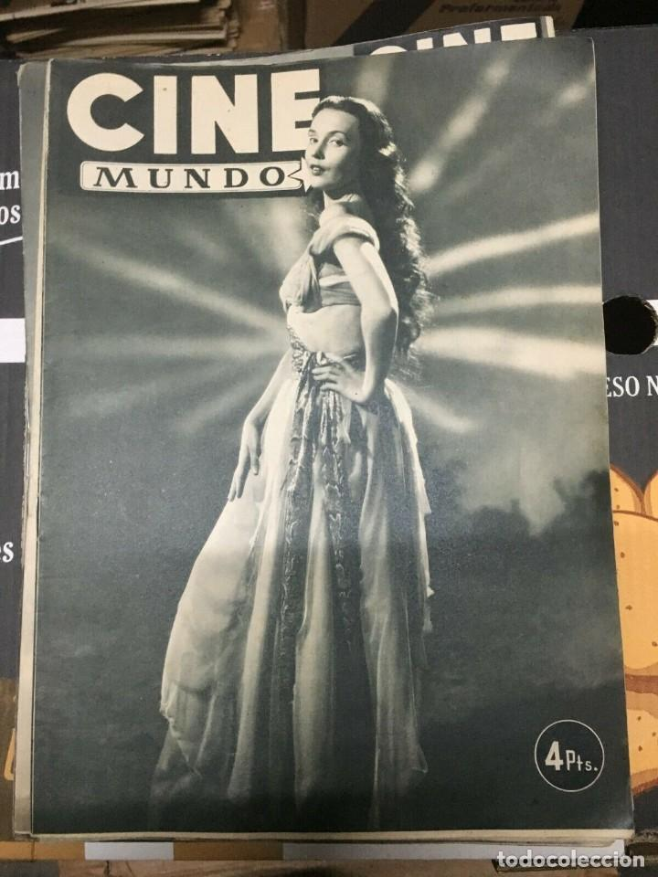 REVISTA CINE MUNDO LUDMILA TCHERINA ON COVER 1952 GUSTAVO ROJO STANTON GRIFFIS JANE WYMAN (Cine - Revistas - Otros)