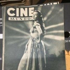 Cine: REVISTA CINE MUNDO LUDMILA TCHERINA ON COVER 1952 GUSTAVO ROJO STANTON GRIFFIS JANE WYMAN. Lote 244871040