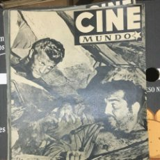 Cine: REVISTA CINE MUNDO KIRK DOUGLAS ON COVER 1952 ACE IN THE HOLE AVA GARDNER CLARK GABLE. Lote 244871195