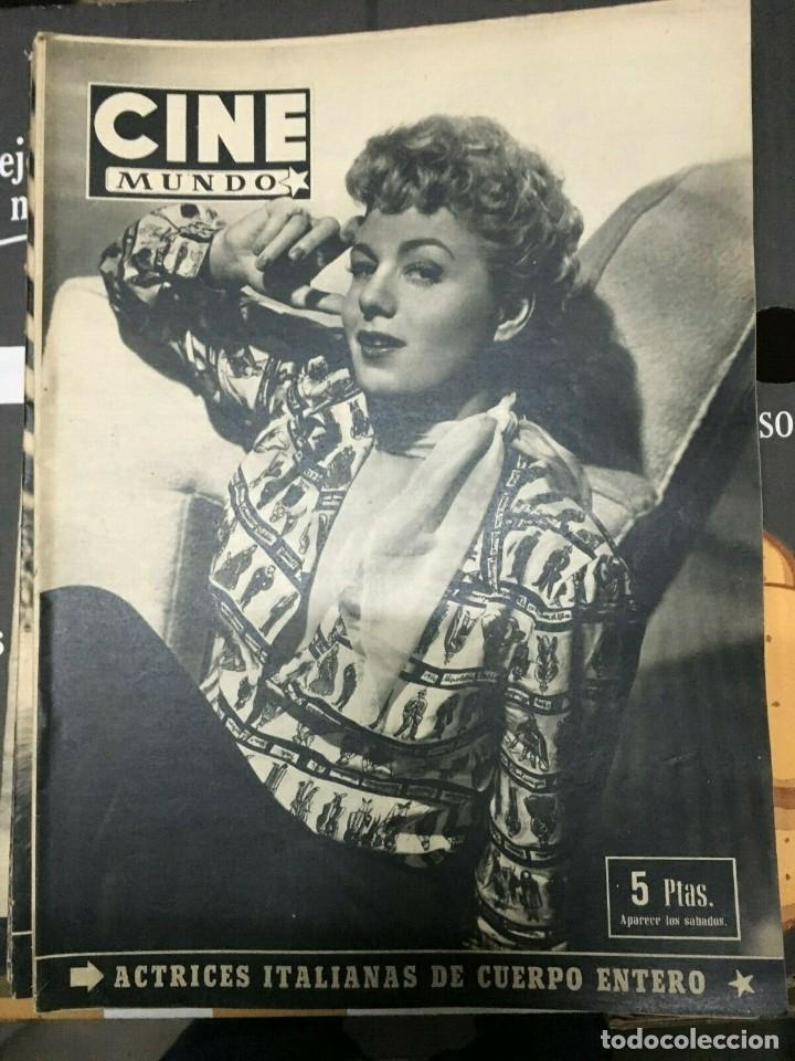 REVISTA CINE MUNDO SHELLEY WINTERS ON COVER 1953 RICARDO MONTALBAN VIVIEN LEIGH (Cine - Revistas - Otros)