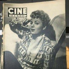 Cine: REVISTA CINE MUNDO SHELLEY WINTERS ON COVER 1953 RICARDO MONTALBAN VIVIEN LEIGH. Lote 244871465