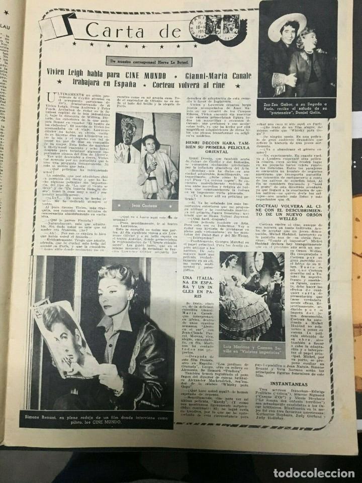 Cine: REVISTA CINE MUNDO Shelley Winters on Cover 1953 Ricardo Montalban Vivien Leigh - Foto 3 - 244871465