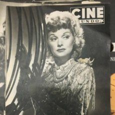 Cine: REVISTA CINE MUNDO LUCILLE BALL ON COVER 1952 ALAN LADD ROTA CANSINOS PAKISTAN PIER ANGELI. Lote 244875820