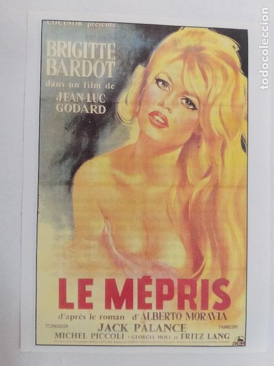 FOLLETO. BRIGITTE BARDOT - LE MÉPRIS. EL DESPRECIO. SINOPSIS AL DORSO. INTERFILMS. (Cine - Reproducciones de carteles, folletos...)