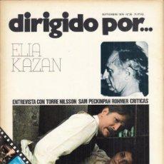 Cine: REVISTA DIRIGIDO POR Nº 36 APÑO 1978. ELIA KAZAN. TORRE NILSSON. SAM PECKINPAH. POHMER.. Lote 245076930