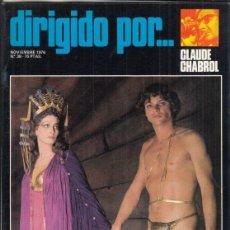 Cine: REVISTA DIRIGIDO POR Nº 38 AÑO 1976. GLAUDE CHABROL. ROGER CORMAN. PATINO. RAOUL WALSH.. Lote 245077730