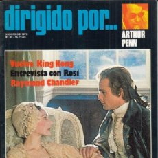 Cine: REVISTA DIRIGIDO POR Nº 39 AÑO 1976. ARTHUR PENN. KING KONG. ROSI. RAYMOND CHANDLER.. Lote 245078050