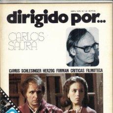 Cine: REVISTA DIRIGIDO POR Nº 32 AÑO 1976. CARLOS SAURA. CAMUS. SCHLESINGER. HERZOG. FORMAN.. Lote 245079550