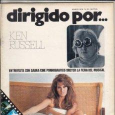 Cine: REVISTA DIRIGIDO POR Nº 31 NAÑO 1976. KEN RUSSELL. SAURA. CINE PORNOGRAFICO. DREYER.. Lote 245079870