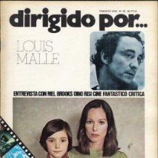 Cine: REVISTA DIRIGIDO POR Nº 30 AÑO 1976. LOUIS MALLE. MEL BROOKS. DINO RISI. CINE FANTASTICO.. Lote 245080175