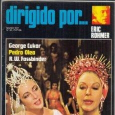Cine: REVISTA DIRIGIDO POR Nº 42 AÑO 1977. ERIC ROHMER. GEORGE CUKOR. PEDRO OLEA. R.W. FASSBINBER.. Lote 245080865
