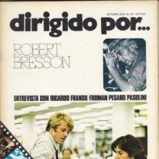 Cine: REVISTA DIRIGIDO POR Nº 37 AÑO 1975. MICHELANGELO ANTONIONI. SAMUEL FULLER ZANUSSI.. Lote 245082130