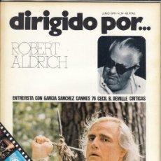 Cine: REVISTA DIRIGIDO POR Nº 34 AÑO 1976. ROBERT ALDRICH. GARCIA SANCHEZ. CECIL B. DEMILLE. CANNES.. Lote 245082550