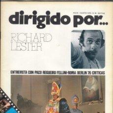 Cine: REVISTA DIRIGIDO POR Nº 35 AÑO 1976. RICHARD LESTER. PACO REGUEIRO. FELLINI-ROMA. BERLIN.. Lote 245083130