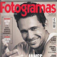 Cine: REVISTA FOTOGRAMAS Nº 2091 AÑO 2018. JAMES FRANCO. THE DISASTER ARTIST. REVELO. MOLLY´S GAME.. Lote 245231970