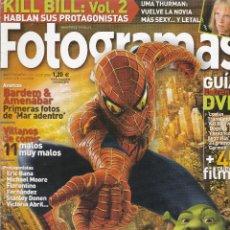 Cine: REVISTA FOTOGRAMAS 2004 : SPIDER-MAN CONTRA SHREK + SUPLEMENTO : TODO SOBRE EL SEÑOR DE LOS ANILLOS. Lote 245241865