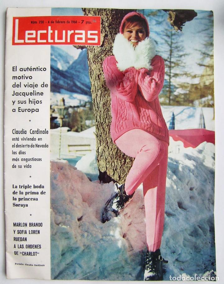 CLAUDIA CARDINALE. JOHN WAYNE. REVISTA LECTURAS DE 1966. (Cine - Revistas - Otros)