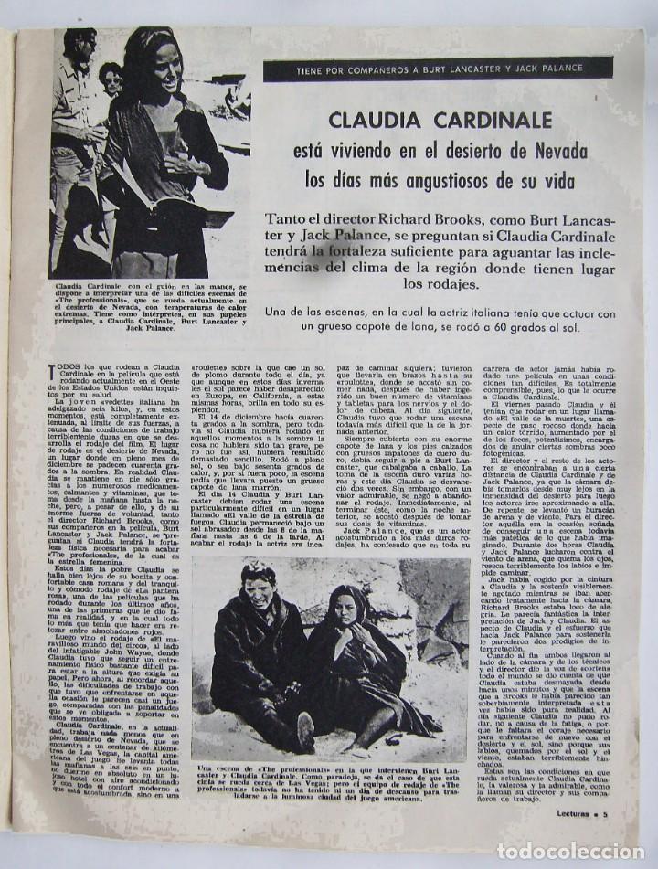 Cine: CLAUDIA CARDINALE. JOHN WAYNE. REVISTA LECTURAS de 1966. - Foto 2 - 245306970