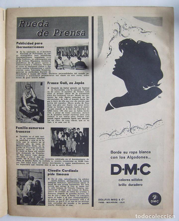 Cine: CLAUDIA CARDINALE. REVISTA AMA de 1966. - Foto 2 - 245307250
