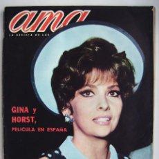 Cine: GINA LOLLOBRÍGIDA. THE BEATLES. MARÍA DOLORES PRADERA. REVISTA AMA DE 1966.. Lote 245307905