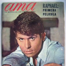 Cine: RAPHAEL. ROCIO DURCAL. REVISTA AMA DE 1966.. Lote 245308770
