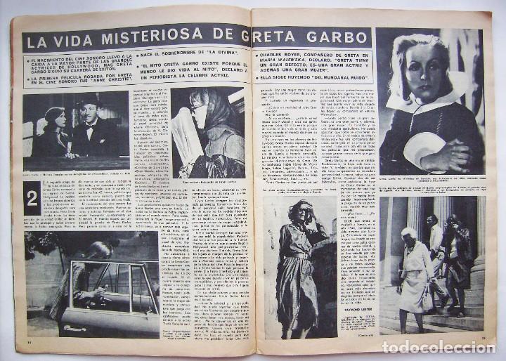 Cine: ROMY SCHNEIDER. GRETA GARBO. GINA LOLLOBRÍGIDA. REVISTA HOLA de 1966. - Foto 7 - 245309250