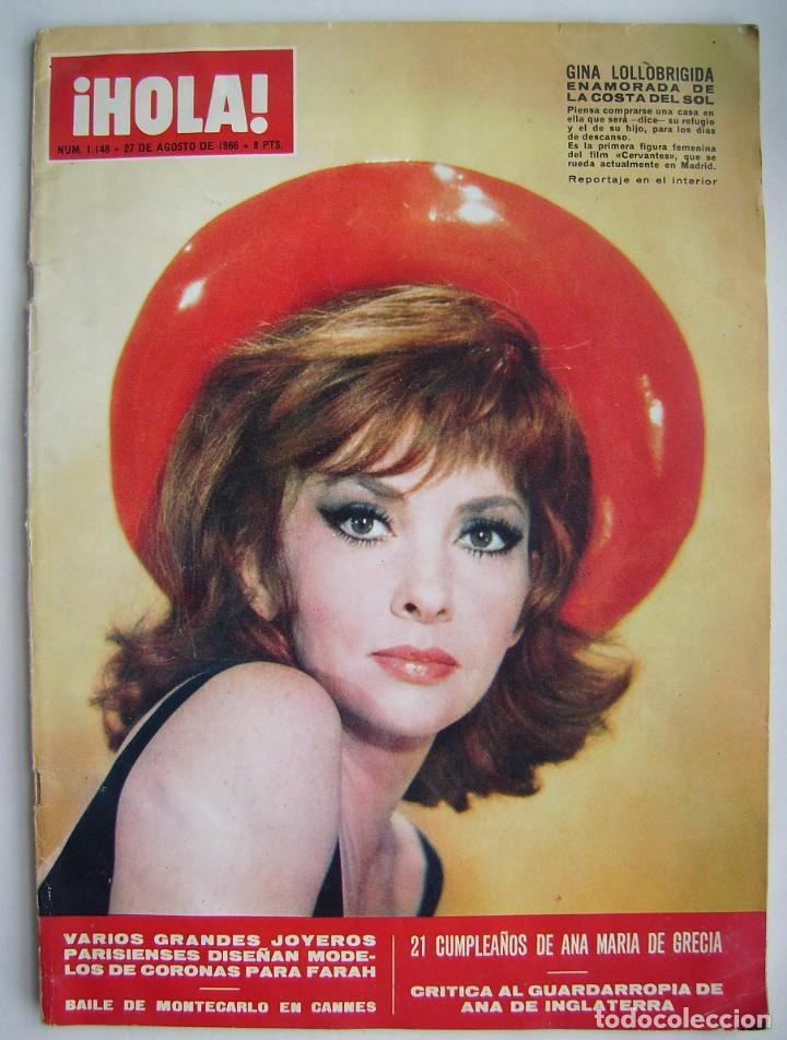 GINA LOLLOBRÍGIDA. SHEILA. REVISTA HOLA DE 1966. (Cine - Revistas - Otros)