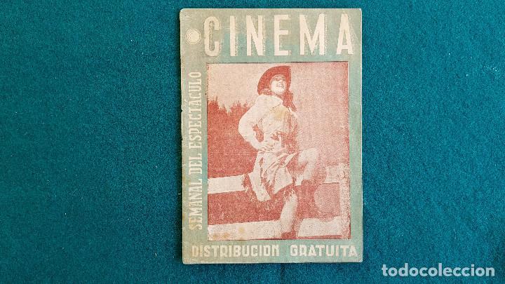 CARTELERA SEMANAL DEL ESPECTACULO CINEMA Nº 20 (1945) - RW (Cine - Revistas - Otros)