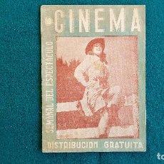 Cine: CARTELERA SEMANAL DEL ESPECTACULO CINEMA Nº 20 (1945) - RW. Lote 245352170