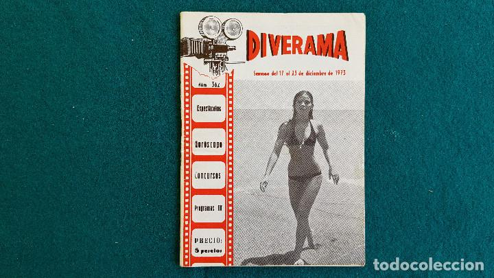 CARTELERA DEL ESPECTACULO DIVERAMA Nº 362 (1973) VALENCIA HOROSCOPO, PROGRAMAS T.V....- RW (Cine - Revistas - Otros)