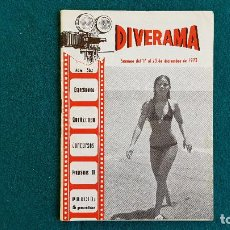 Cine: CARTELERA DEL ESPECTACULO DIVERAMA Nº 362 (1973) VALENCIA HOROSCOPO, PROGRAMAS T.V....- RW. Lote 245352570