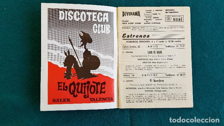 Cine: CARTELERA DEL ESPECTACULO DIVERAMA Nº 362 (1973) VALENCIA HOROSCOPO, PROGRAMAS T.V....- RW - Foto 2 - 245352570