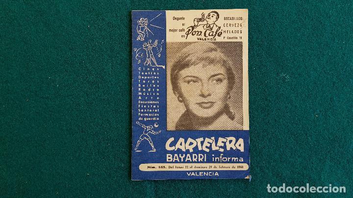 CARTELERA DEL ESPECTACULO BAYARRI Nº 165 (1960) CINES VALENCIA - RW (Cine - Revistas - Otros)