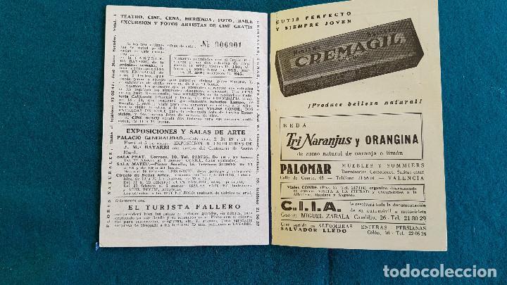 Cine: CARTELERA DEL ESPECTACULO BAYARRI Nº 165 (1960) CINES VALENCIA - RW - Foto 4 - 245353300