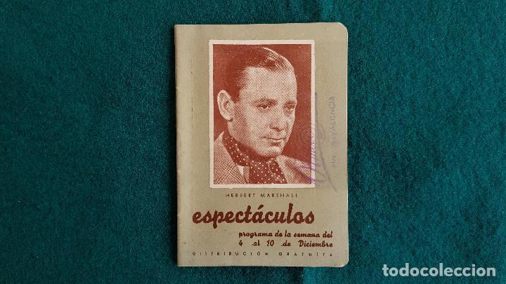 CARTELERA DE ESPECTACULOS SEMANA 50 (1944) CINES VALENCIA - RW (Cine - Revistas - Otros)