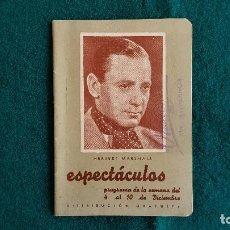 Cine: CARTELERA DE ESPECTACULOS SEMANA 50 (1944) CINES VALENCIA - RW. Lote 245360795